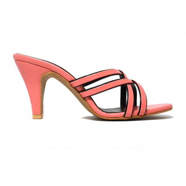 """Tiarah"" Pink Heels Cris Cross For Women"