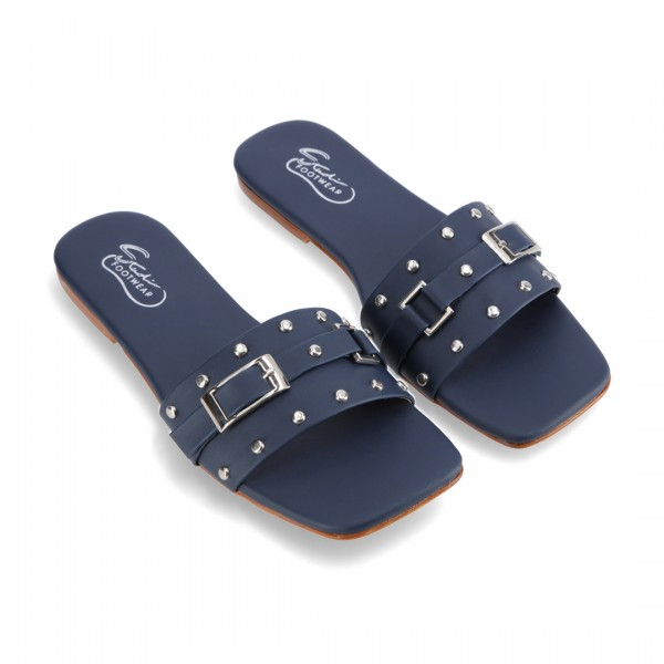 """GAL"" BLUE STUD STYLE SLIPPER FOR WOMEN ..."