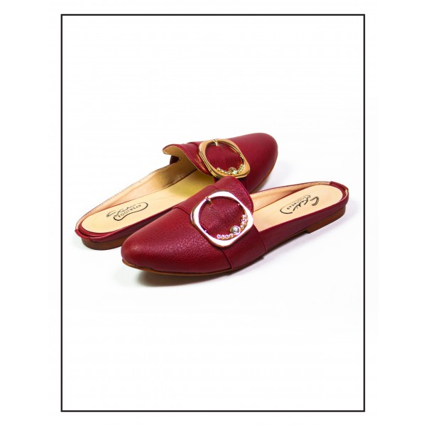 """FLAVIA"" MAROON FLAT MULES FOR WOMEN BY ..."