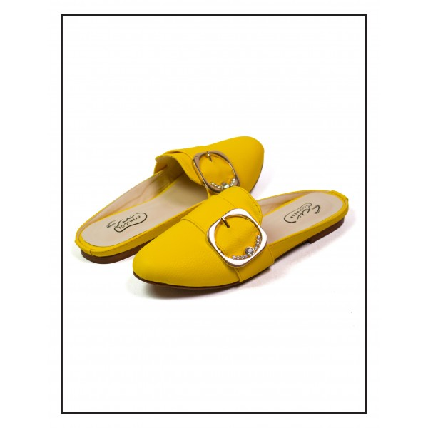 """FLAVIA"" YELLOW FLAT MULES FOR WOMEN BY ..."