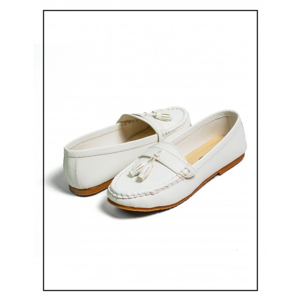 Society Croc White Color Upper With Rubber Sole Fo...