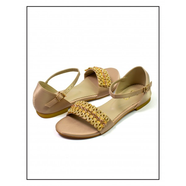 """Geet"" Fone Flat Sole With Festive Motiv..."