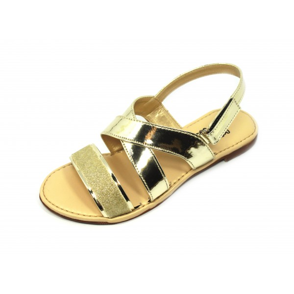 "KOKO KIDS ""KYLA"" GOLD SANDALS FOR GIRLS BY STUDIO FOOTWEAR"