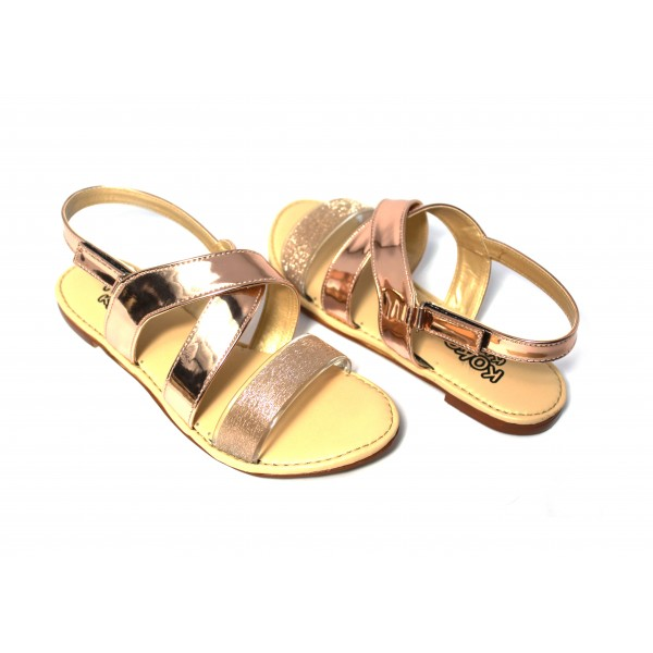 "KOKO KIDS ""KYLA"" PEACH SANDALS FOR GIRLS..."