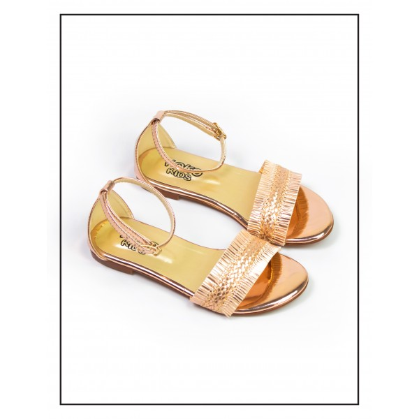 "KOKO KIDS ""LAYLA"" PEACH SANDALS WITH SHI..."