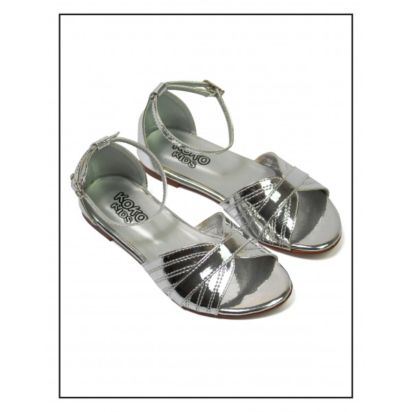 "KOKO KIDS ""MOLLY"" SILVER SANDALS FOR GIR..."