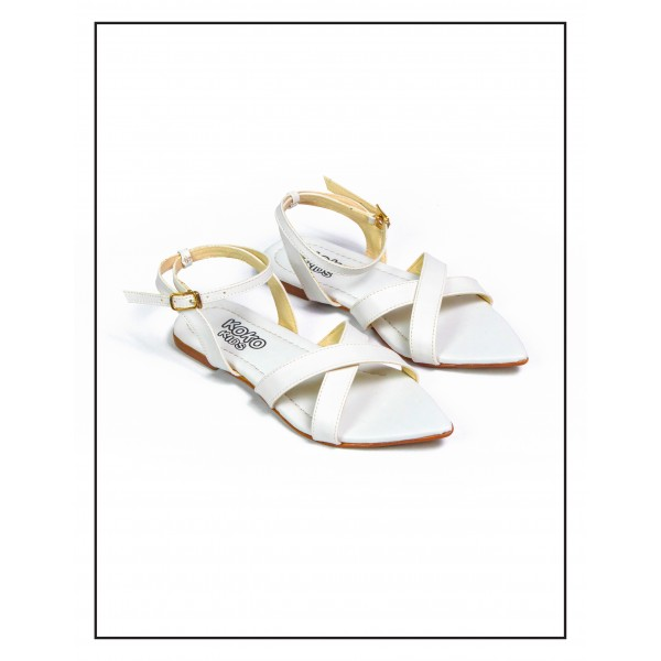 "KOKO KIDS ""JUNIA"" WHITE SANDALS FOR GIRL..."