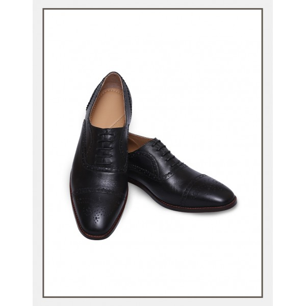 """Santiago"" The Boss Shoes in Black"