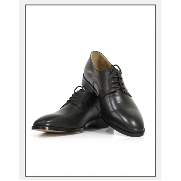 """""""Warrick"""" Derby Leather Shoes in Black"""