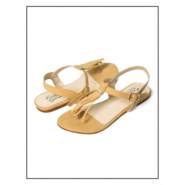 """""""CALLY"""" Fone With Stripes Sandals For Wo..."""