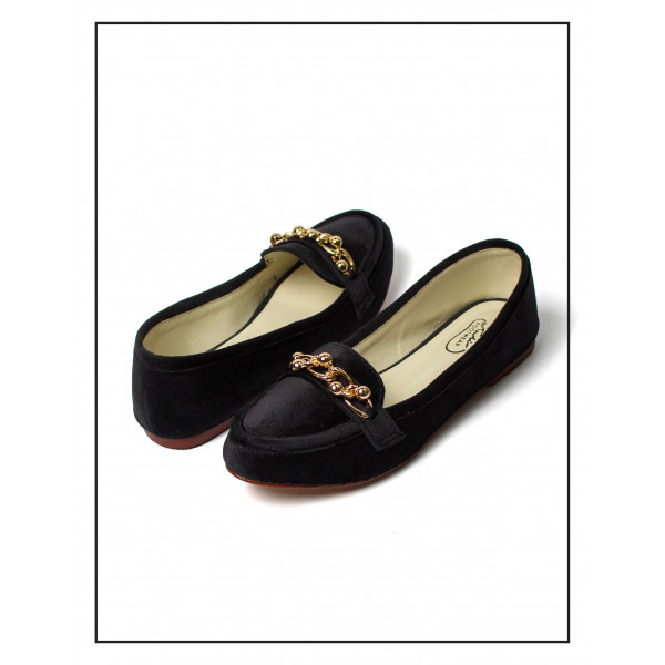 Chicky Chain Loafer Black