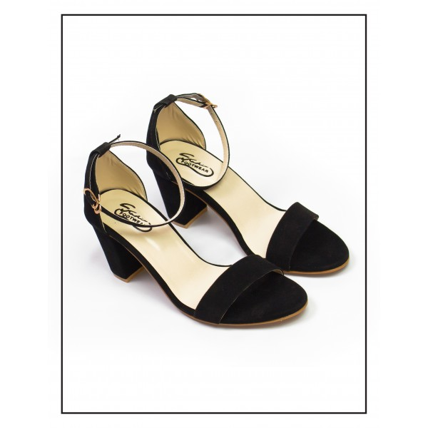 """Clara"" Black High Heels Sandals For Wom..."