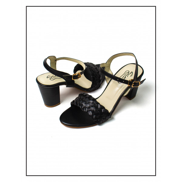 """""""Evei"""" Knotted Black High Heels Sandals ..."""
