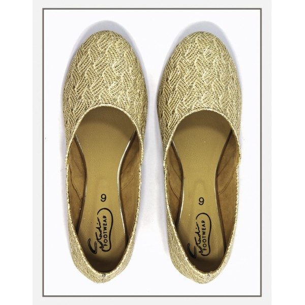 """Lily Juttis"" Gold With Handmade Embroid..."