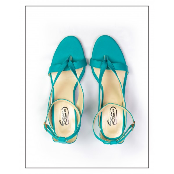 "WOMEN ""MARGOT"" TEAL COMFORTABLE STYLISH SANDALS"