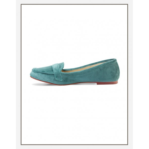 Chic Velvet Loafer Green