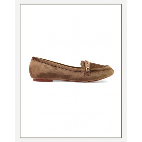 Chicky Chain Loafer Brown