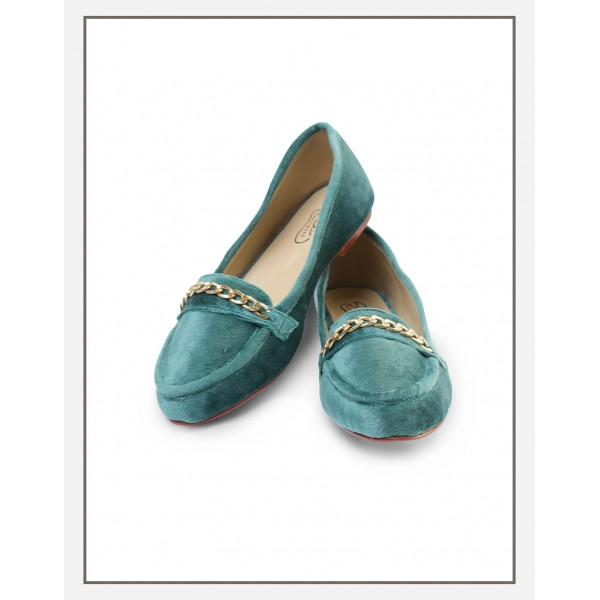Chicky Chain Loafer Green